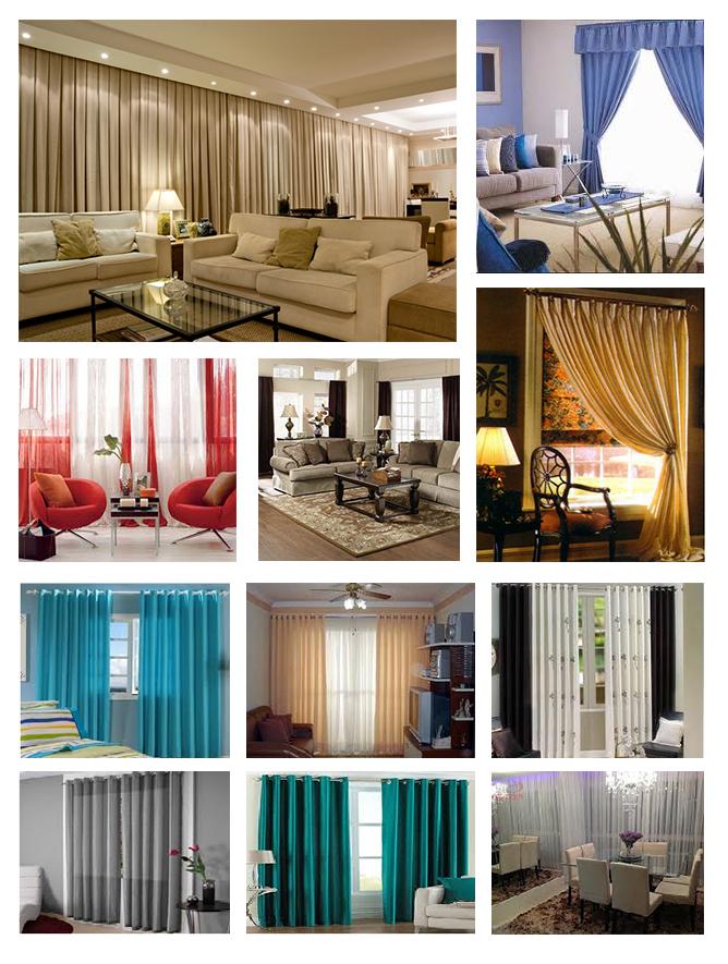Cortina modernas - cortinas sob medida