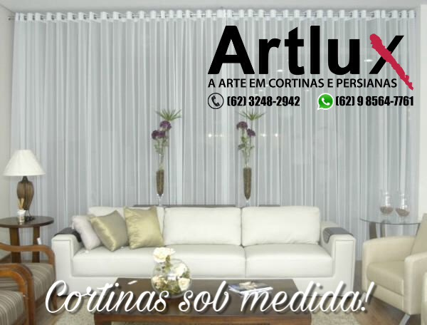 cortina de tecido com logomarca V