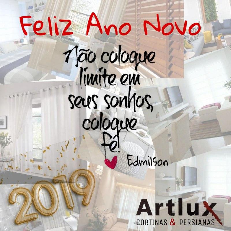 #Artlux Cortinas - Deseja um Feliz Ano Novo para todos os nossos cliente e colaboradores.