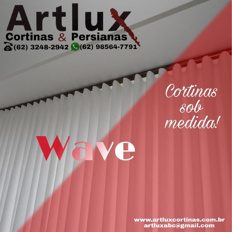 Cortinas WAVE, modelos, varões, dicas - Artlux Cortinas e Persianas