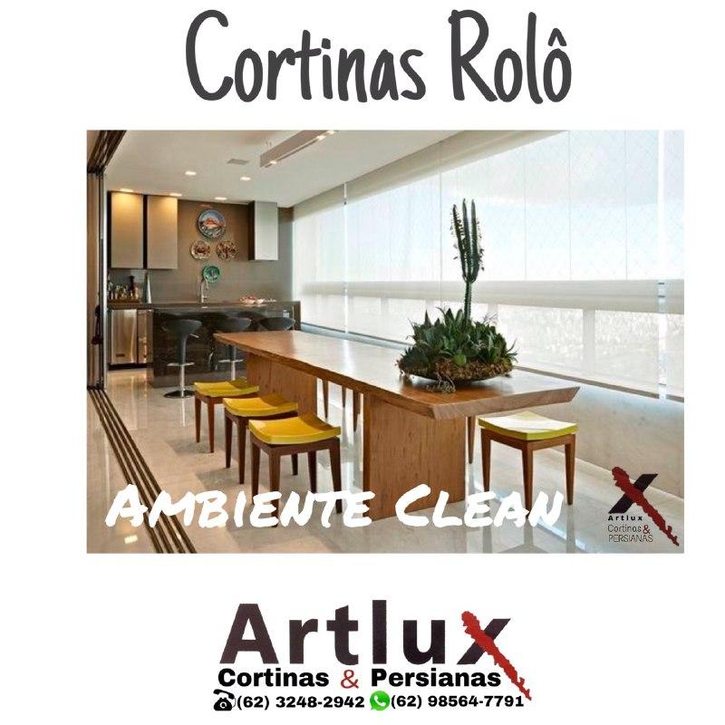 Cortinas Rolô - Espaço Gourmet - Ambiente Clean