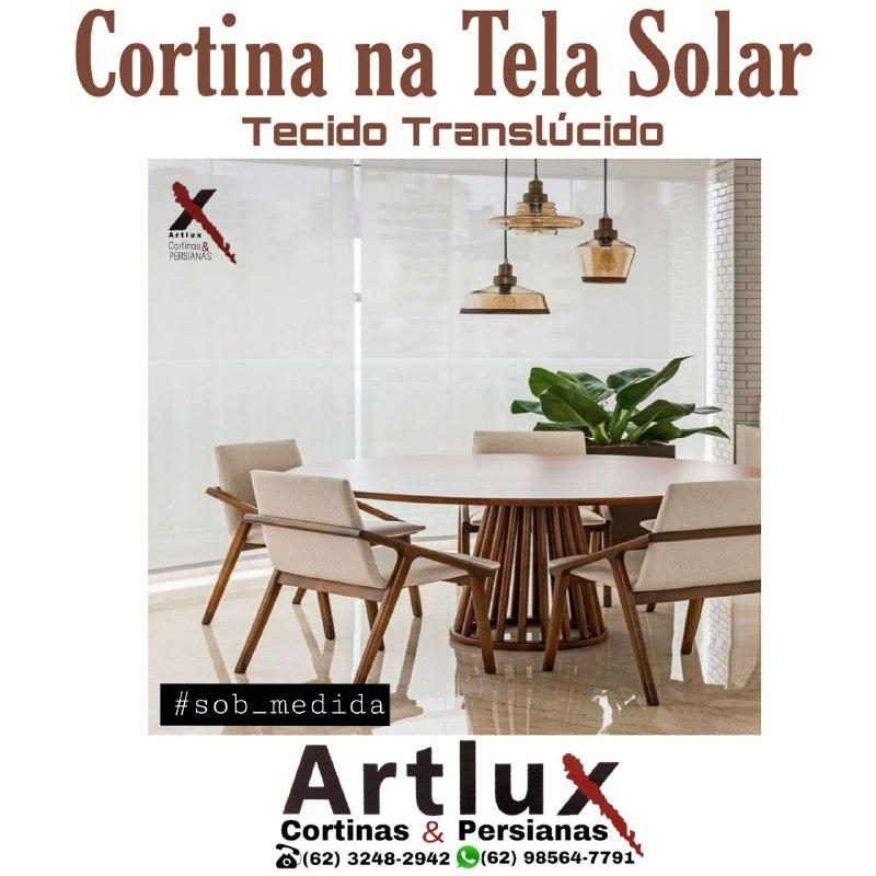 |Cortina Tela Solar|Cortinas Rolô e Romana|em Goiânia - GO