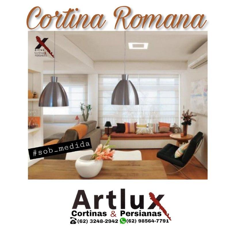 |Cortina Romana tela solar - Artlux Cortinas e Persianas|