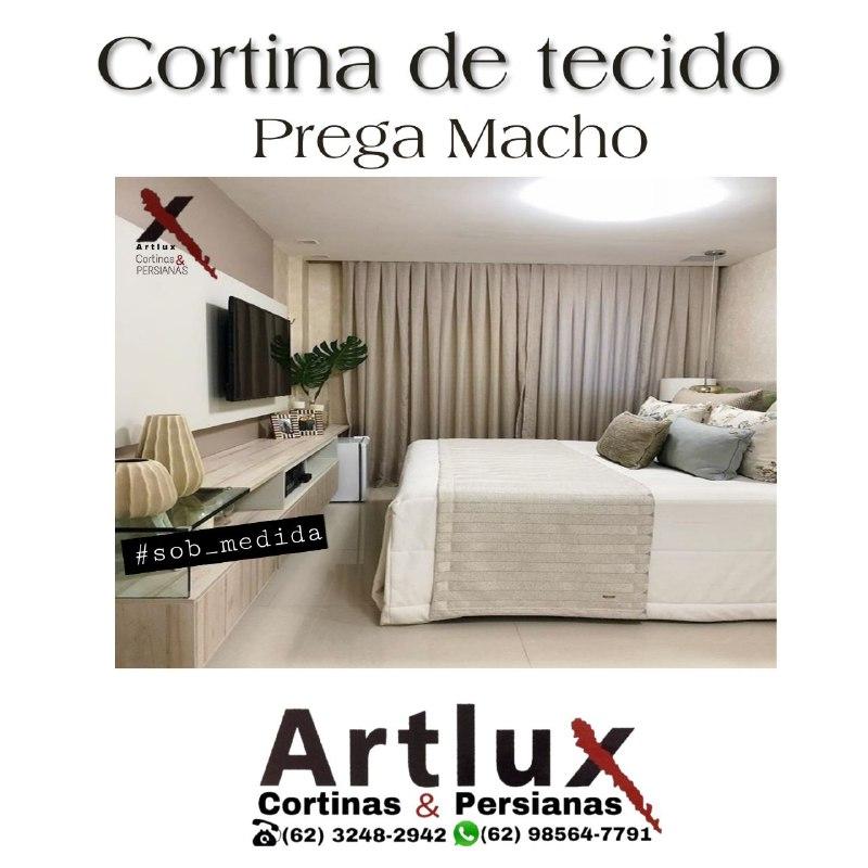|Cortina de Tecido - Prega Macho|Artlux Cortinas e Persianas|