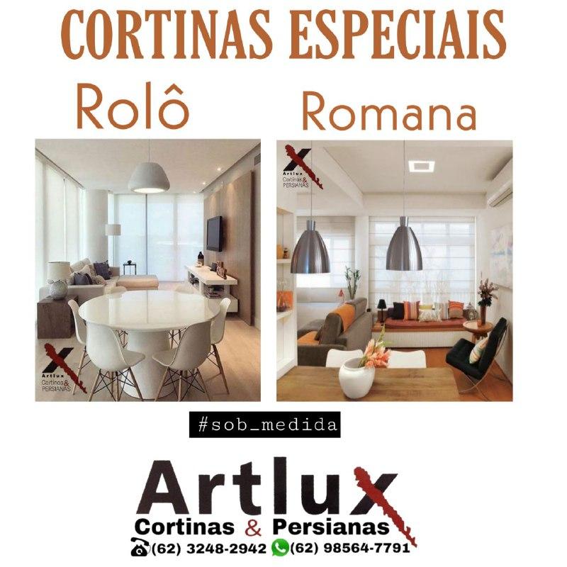 |Cortinas Rolô e Cortinas Romanas|em Goiânia