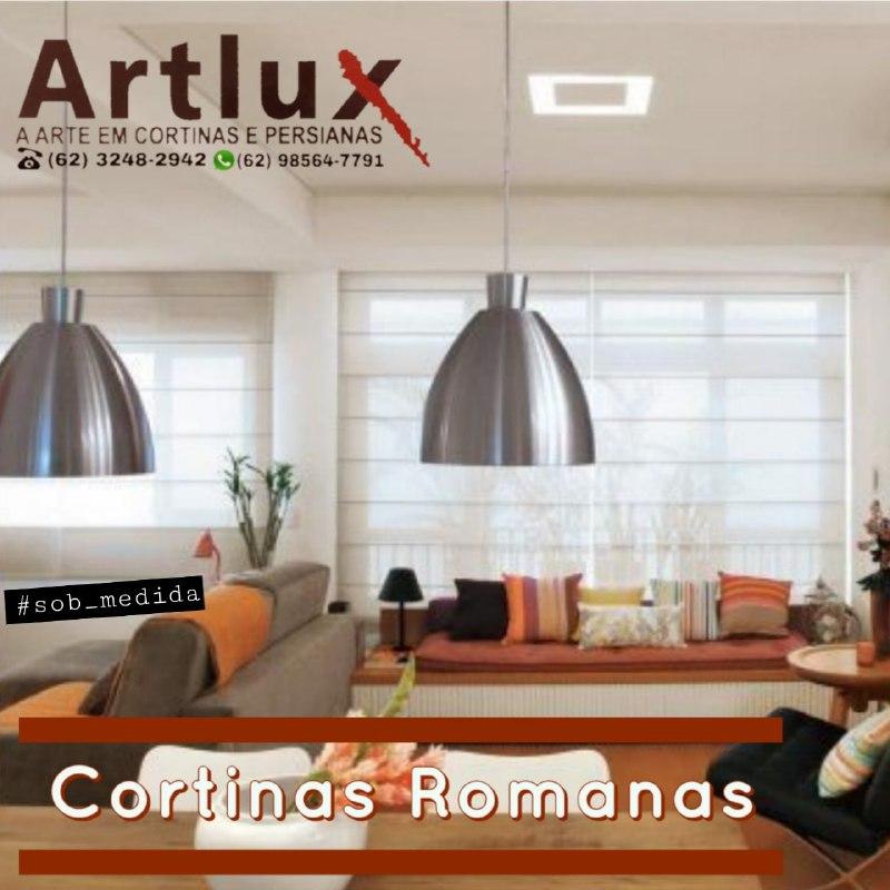 Cortinas Romanas sob medida - Casa das Cortinas em Goiânia - Artlux