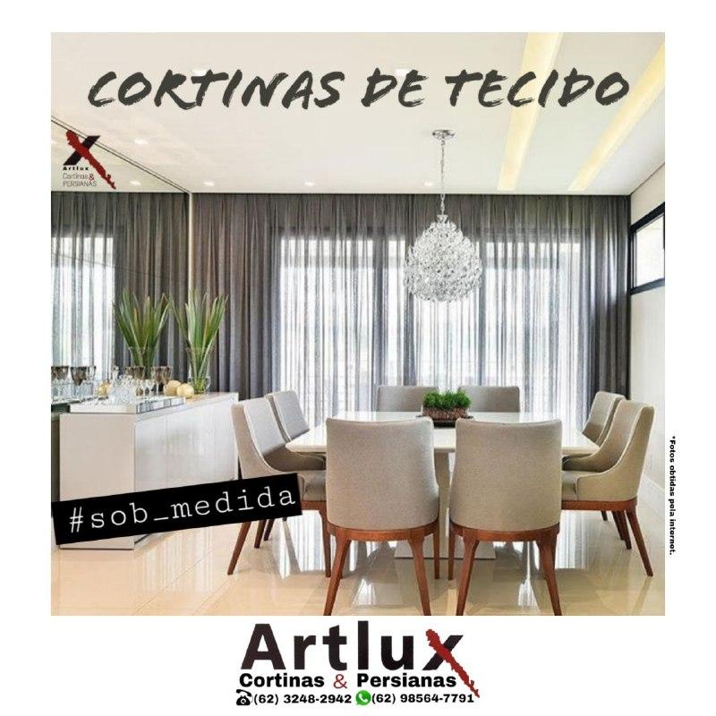 Cortinas de tecido sob medida em Goiânia - Artlux