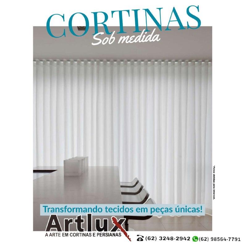 O charme e a sofisticação dos tecidos leves - Artlux Cortinas e Persianas