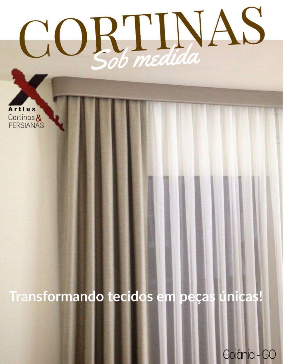 CORTINAS MODERNAS para Diferentes Ambientes - Cortinas de Tecido em Goiânia - GO