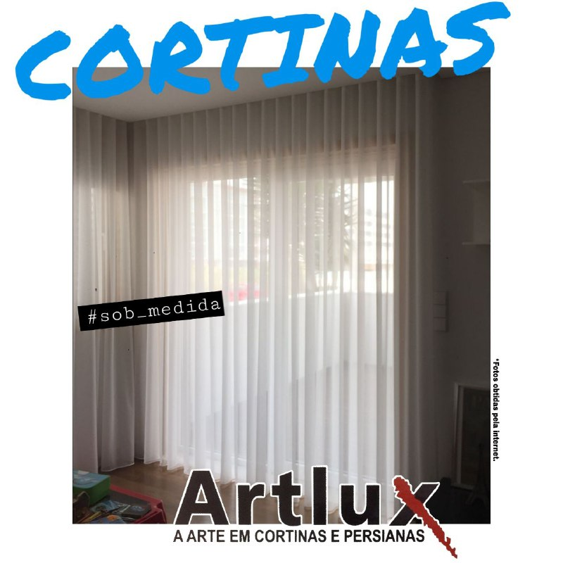Cortina Sala | Mão de Obra Especializada |Artlux Cortinas e Persianas