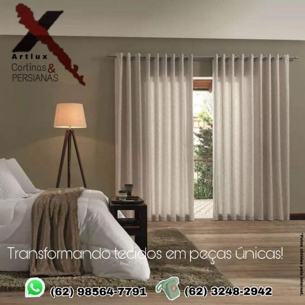 Cortinas para quarto moderno | Artlux Cortinas e Persianas Goiânia - GO